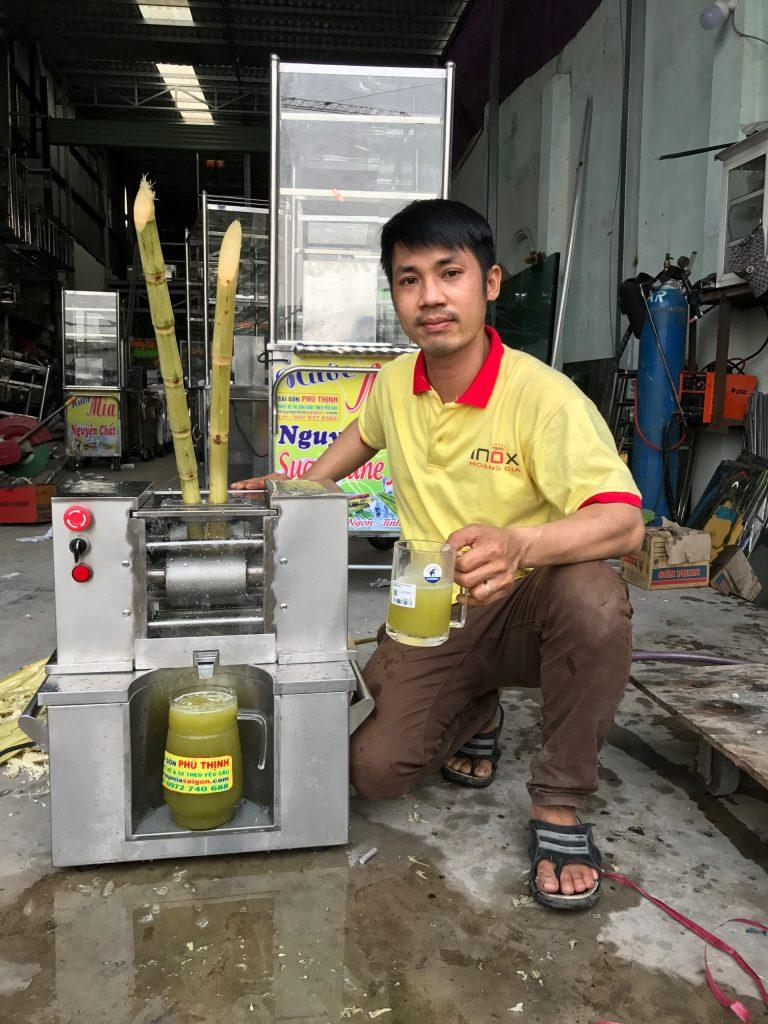 Máy ép mía quận Tân Phú xuất khẩu